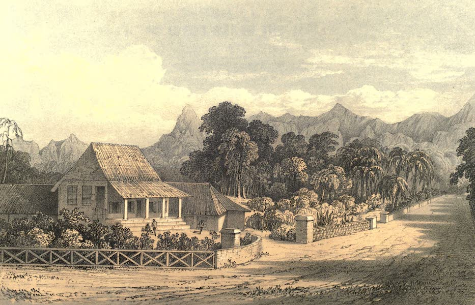 De Zieke Reiziger, or, Rambles in Java and the Straits - Soemadang Hotel, from the bridge (1853)