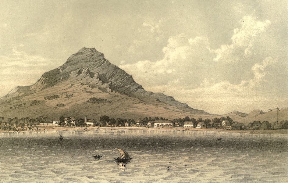 De Zieke Reiziger, or, Rambles in Java and the Straits - Cheribon, as seen from the Steamer Koningen (1853)