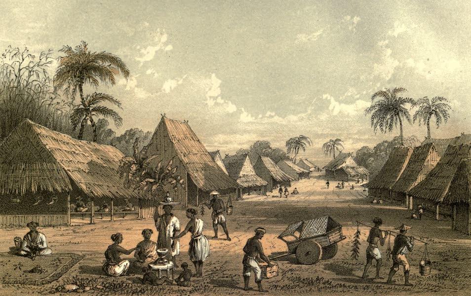 De Zieke Reiziger, or, Rambles in Java and the Straits - A village near Kubooman (1853)