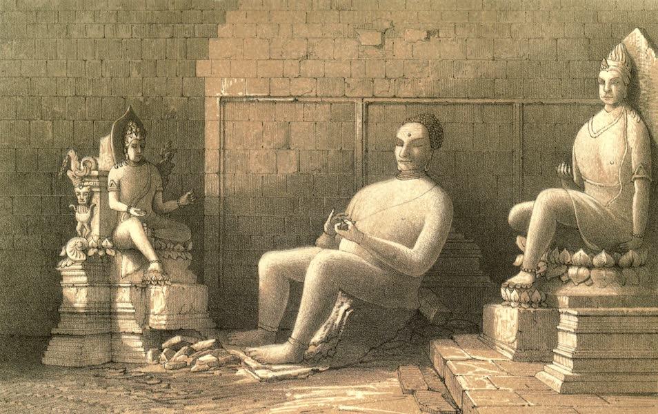 De Zieke Reiziger, or, Rambles in Java and the Straits - Interior of the Temple of Tjandie (1853)