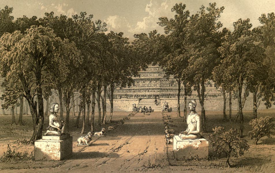 De Zieke Reiziger, or, Rambles in Java and the Straits - The entrance to Bodor Temple (1853)