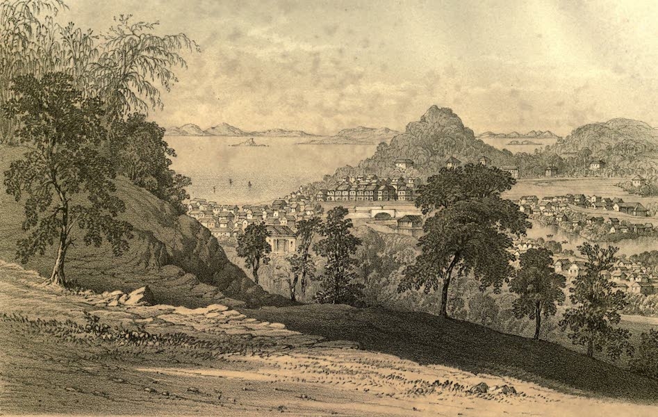 De Zieke Reiziger, or, Rambles in Java and the Straits - Singapore, from the West side of Government Hill (1853)