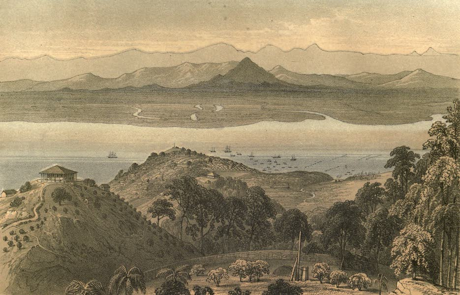 De Zieke Reiziger, or, Rambles in Java and the Straits - Penang, from Richmond Hill (1853)