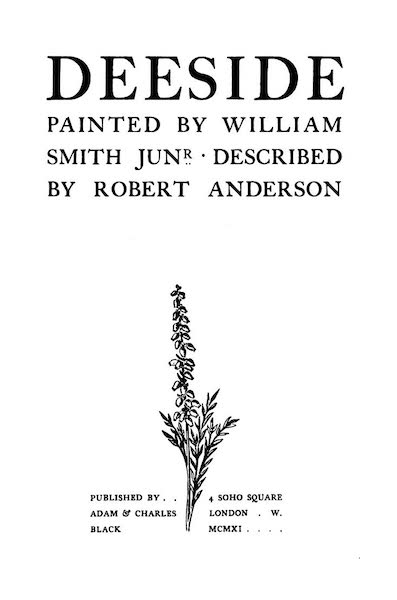 Deeside Painted and Described - Title Page (1911)
