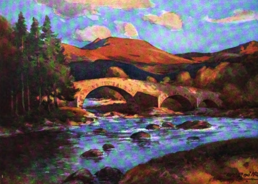 Deeside Painted and Described - The Old Bridge of Invercauld (1911)