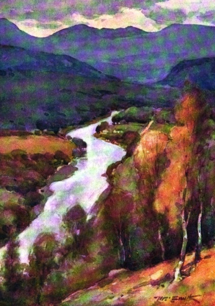 Deeside Painted and Described - The Valley of the Dee above Balmoral (1911)