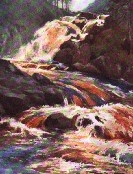 Deeside Painted and Described - The Falls of Muick (1911)