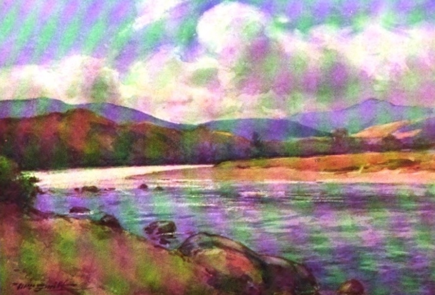 Deeside Painted and Described - The Dee at Ballatar (1911)