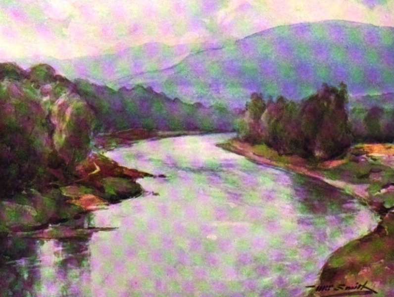 Deeside Painted and Described - The Dee at Cambus o' May (1911)