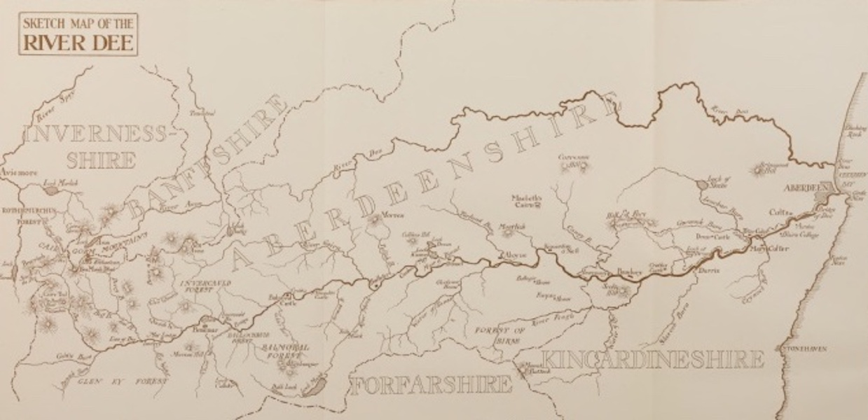 Deeside Painted and Described - Sketch Map of Deeside (1911)