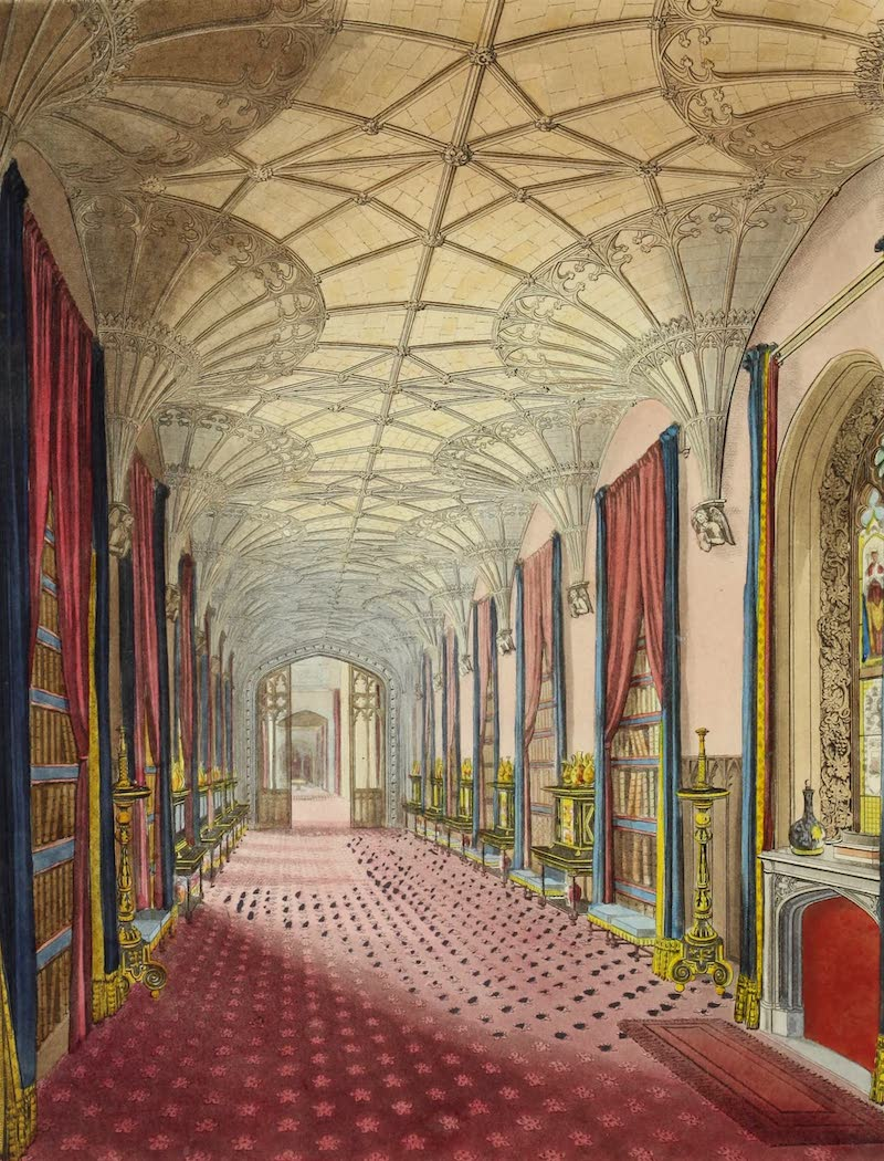 Delineations of Fonthill and its Abbey - Interior of St. Michael's Gallery (1823)