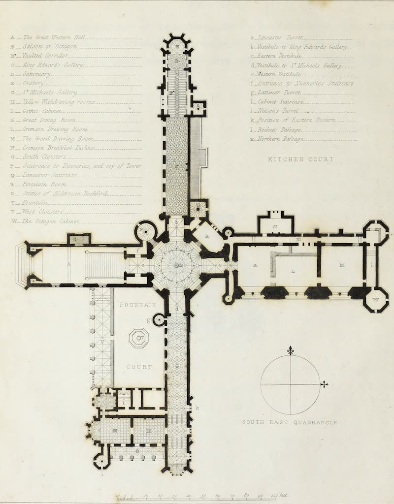 Delineations of Fonthill and its Abbey - Plan of the Principal Story (1823)