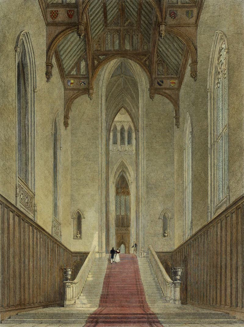 Delineations of Fonthill and its Abbey - Interior of the Great Western Hill (1823)