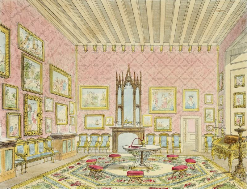Delineations of Fonthill and its Abbey - The Grand Drawing Room (1823)