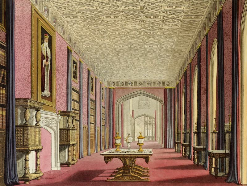 Delineations of Fonthill and its Abbey - Interior of King Edward's Gallery (1823)