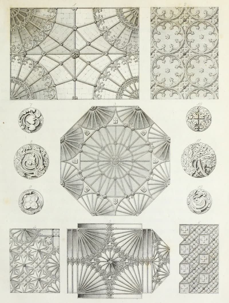 Delineations of Fonthill and its Abbey - Specimens of the Ceilings (1823)