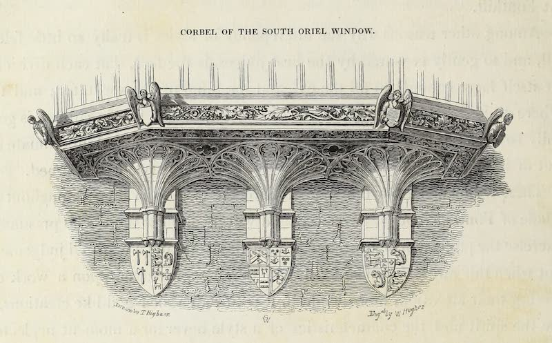 Delineations of Fonthill and its Abbey - Corbel of the South Oriel Window (1823)