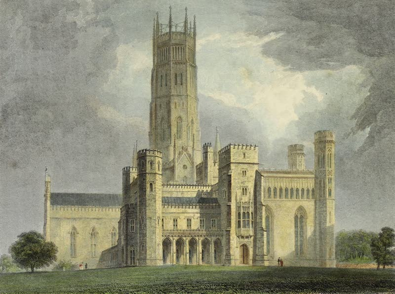 Delineations of Fonthill and its Abbey - View of the South Front (1823)