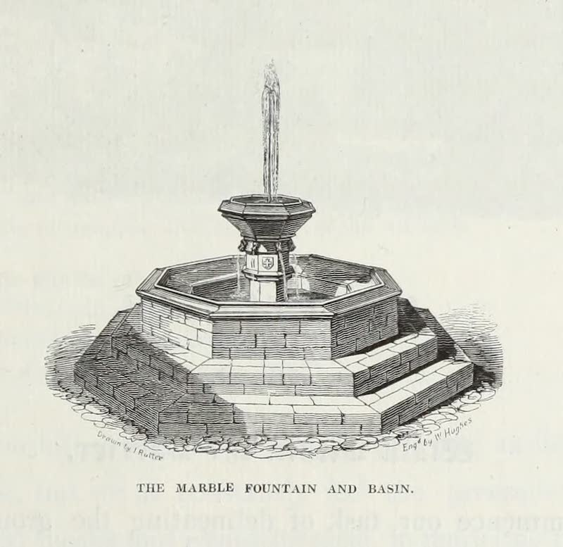 Delineations of Fonthill and its Abbey - The Marble Fountain and Basin (1823)