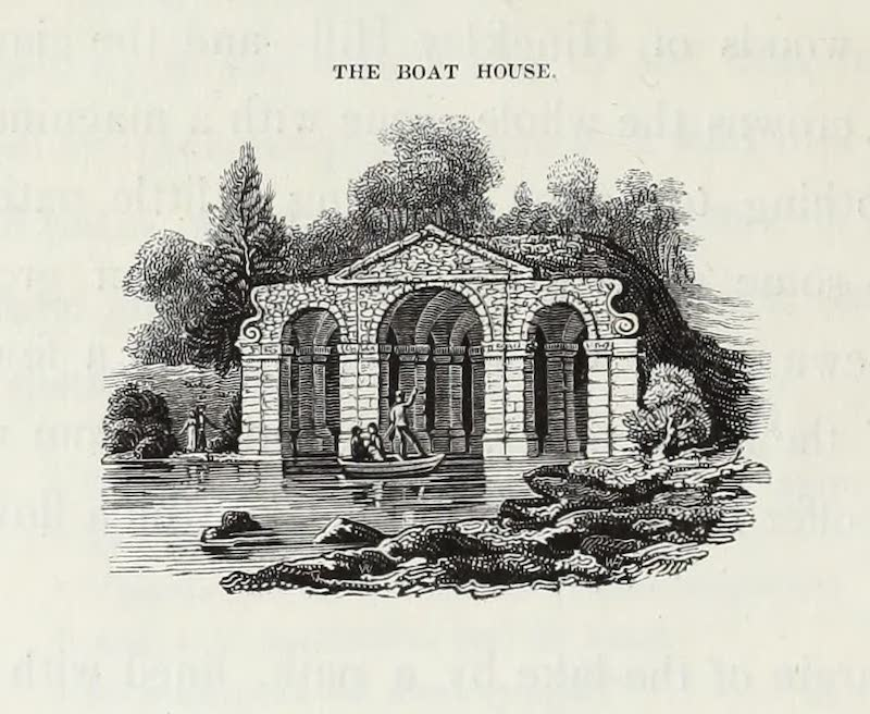 Delineations of Fonthill and its Abbey - The Boat House (1823)