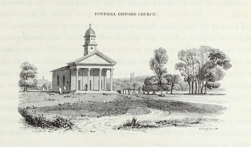 Delineations of Fonthill and its Abbey - Fonthill Gifford Church (1823)