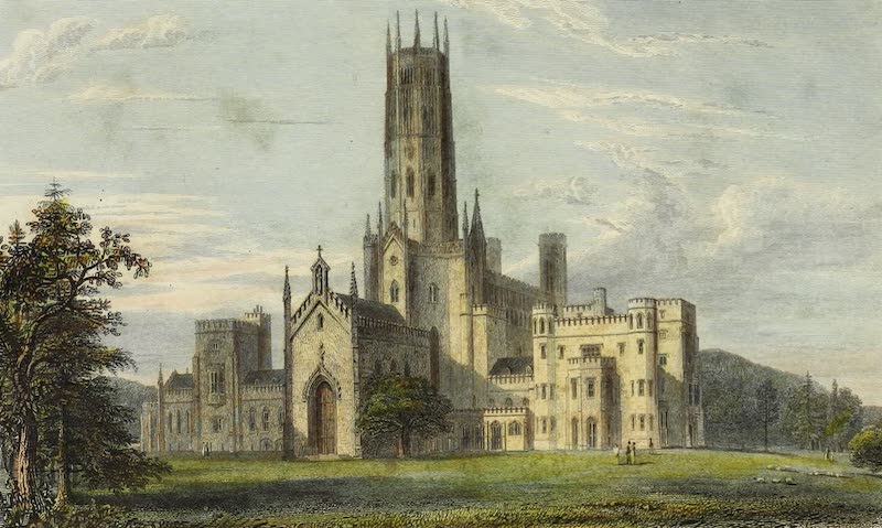 Delineations of Fonthill and its Abbey - South-West View of Fonthill Abbey (1823)