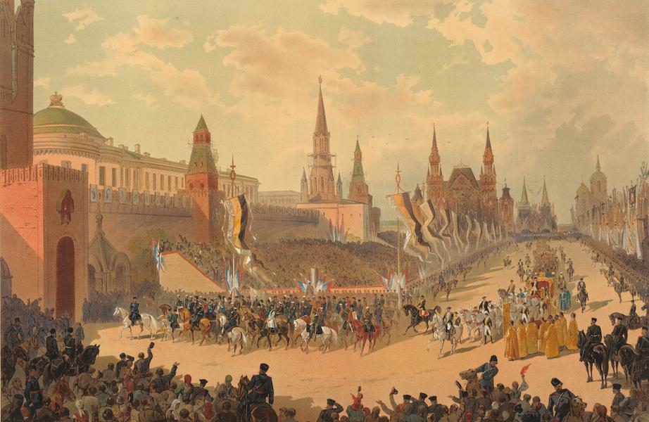 Description du Sacre et du Couronnement de Leurs Majestes Imperiales - Entree triomphale par la Place Rouge (1883)