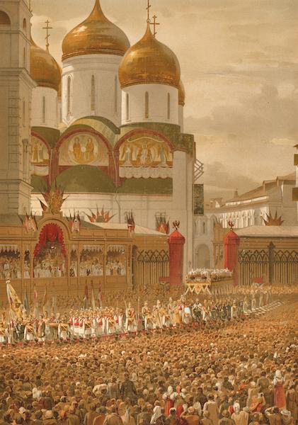 Description du Sacre et du Couronnement de Leurs Majestes Imperiales - Sortie Solennelle de la premiere enciente du Kremlin (1883)