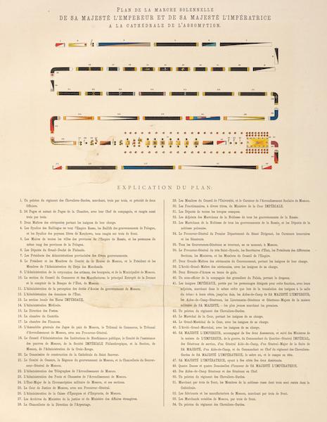 Description du Sacre et du Couronnement de Leurs Majestes Imperiales - Plan de la Marche Solennelle de Sa Majeste l'Empereur et de sa Majeste l'Imperatrice a la Cathedrale de l'Assomption (1883)