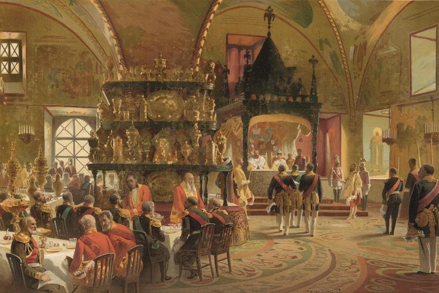 Description du Sacre et du Couronnement de Leurs Majestes Imperiales - Banquet Imperial a la Granovitaia Palata (1883)