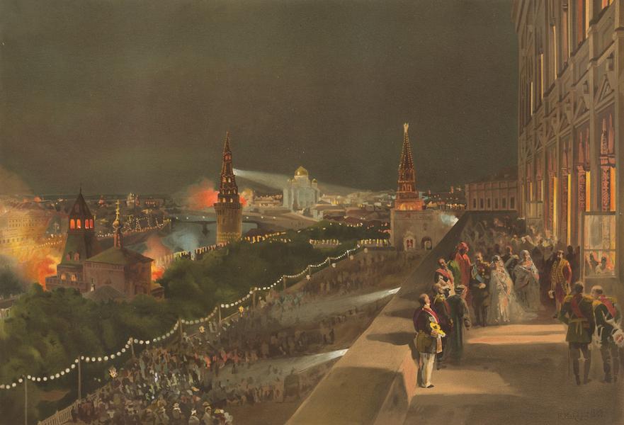 Description du Sacre et du Couronnement de Leurs Majestes Imperiales - Illumination du Kremlin (1883)