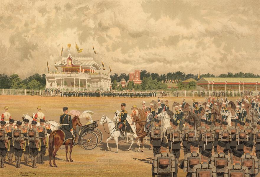 Description du Sacre et du Couronnement de Leurs Majestes Imperiales - Arrivee de Sa Majeste l'Empereur a la Revue (1883)