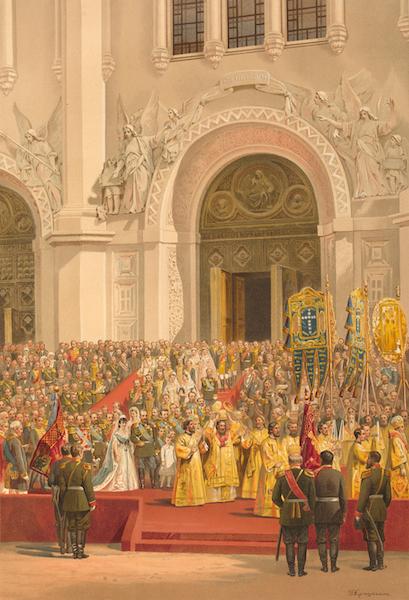 Description du Sacre et du Couronnement de Leurs Majestes Imperiales - Sortie de la Cathedrale du Sauveur (1883)