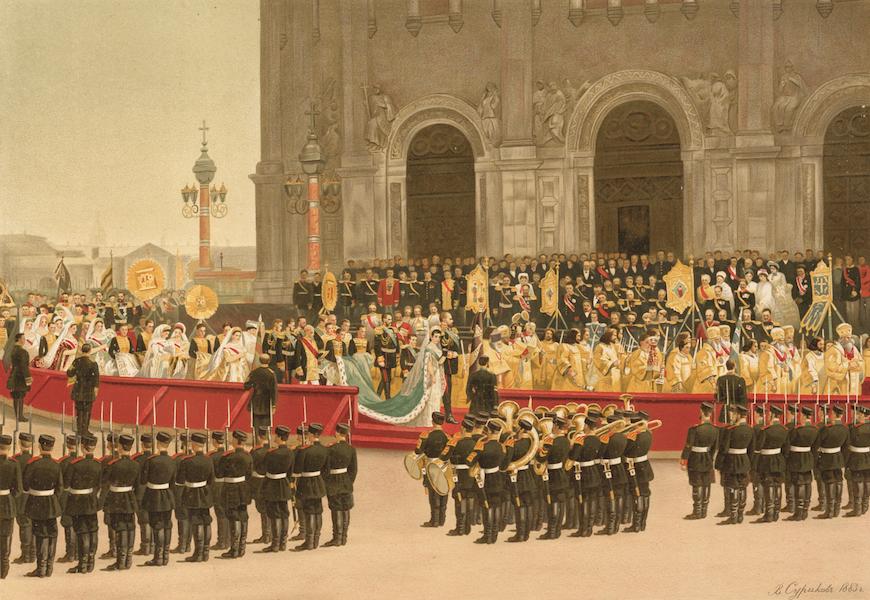 Description du Sacre et du Couronnement de Leurs Majestes Imperiales - Procession autour de la Cathedrale du Sauveur (1883)