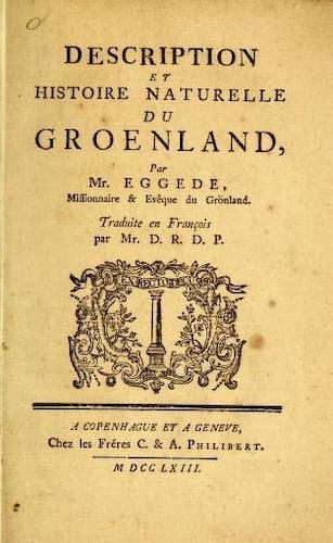 French - Description et Histoire Naturelle du Groenland