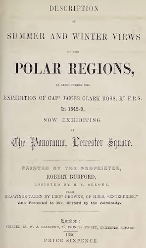 Description of Summer and Winter Views of the Polar Regions (1850)