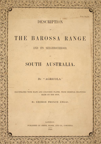 Aquatint & Lithography - Description of the Barossa Range and its Neighbourhood in South Australia
