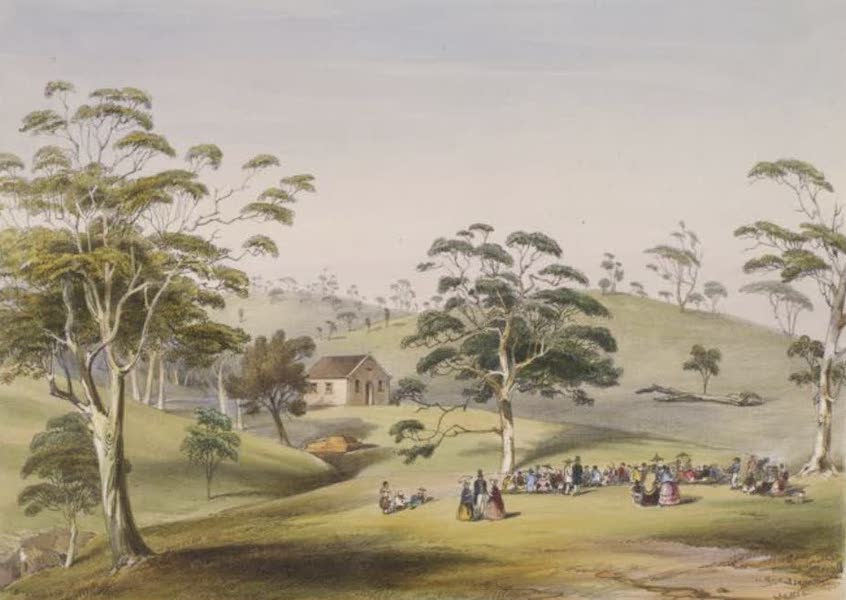 Description of the Barossa Range and its Neighbourhood in South Australia - Opening of the Free Chapel at Angaston, German Pass, Feb 28th, 1844 (1849)