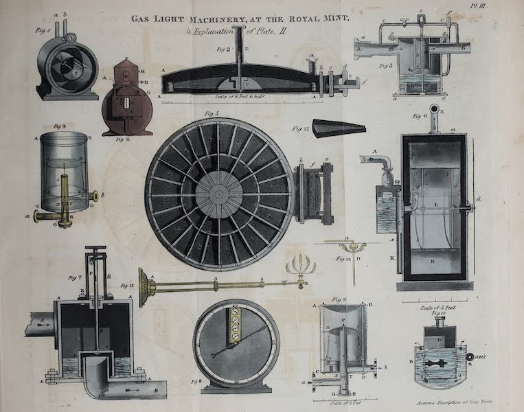 Description of the Process of Manufacturing Coal Gas - Gas-Light Machinery at the Royal Mint (1819)