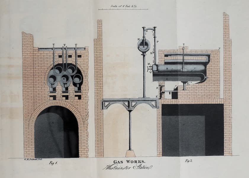 Description of the Process of Manufacturing Coal Gas - Gas-Works, Westminster Station (1819)