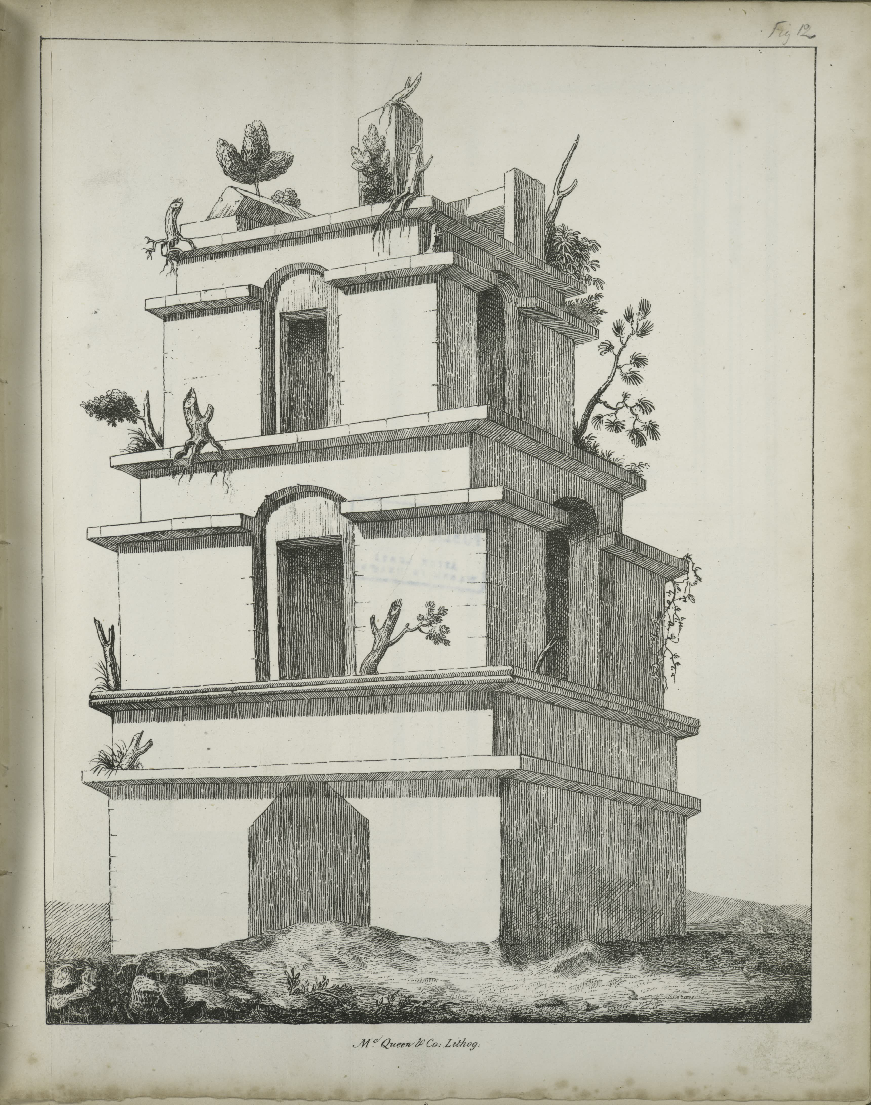 Description of the Ruins of an Ancient City - Stone tower with three floors (1822)