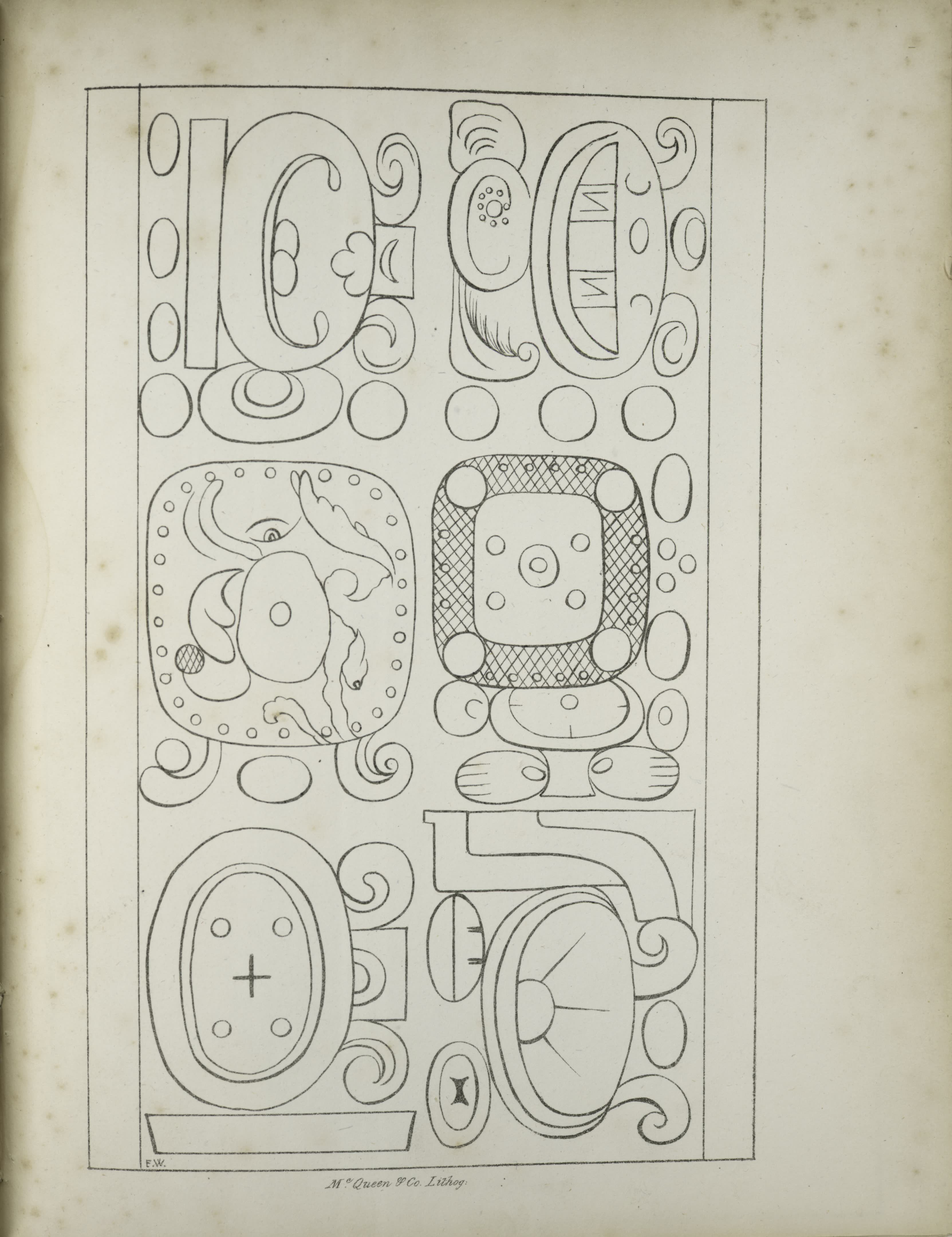 Description of the Ruins of an Ancient City - Six abstract designs (1822)