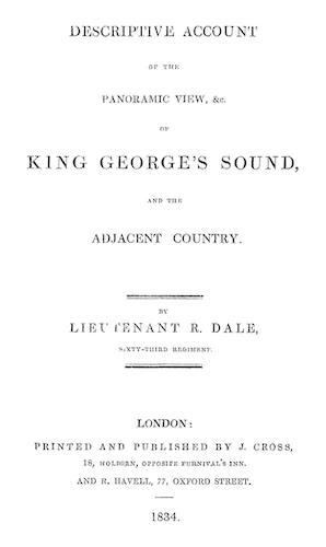 Aquatint & Lithography - Descriptive Account of the Panoramic View of King George's Sound