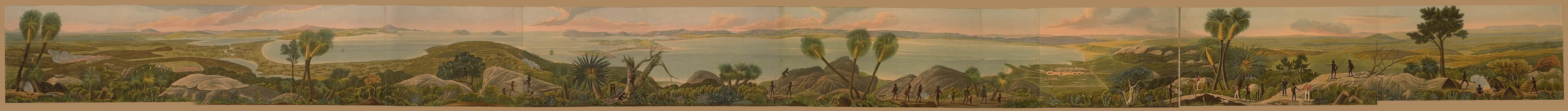 Descriptive Account of the Panoramic View of King George's Sound - Panoramic View of King George's Sound [Composite] (1834)