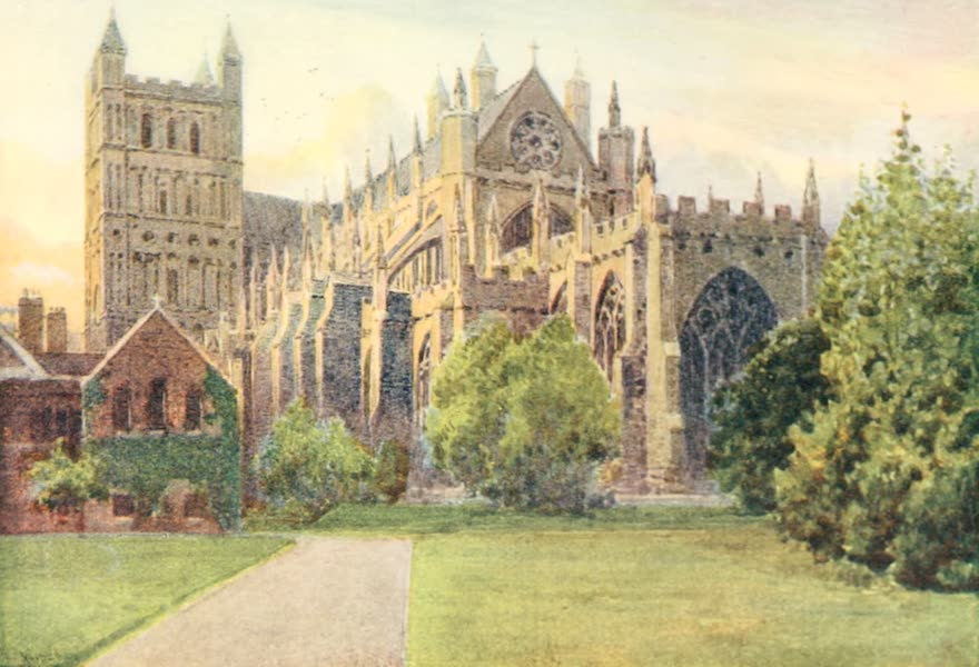 Devon : Its Moorlands, Streams, & Coasts - Exeter Cathedral (1913)