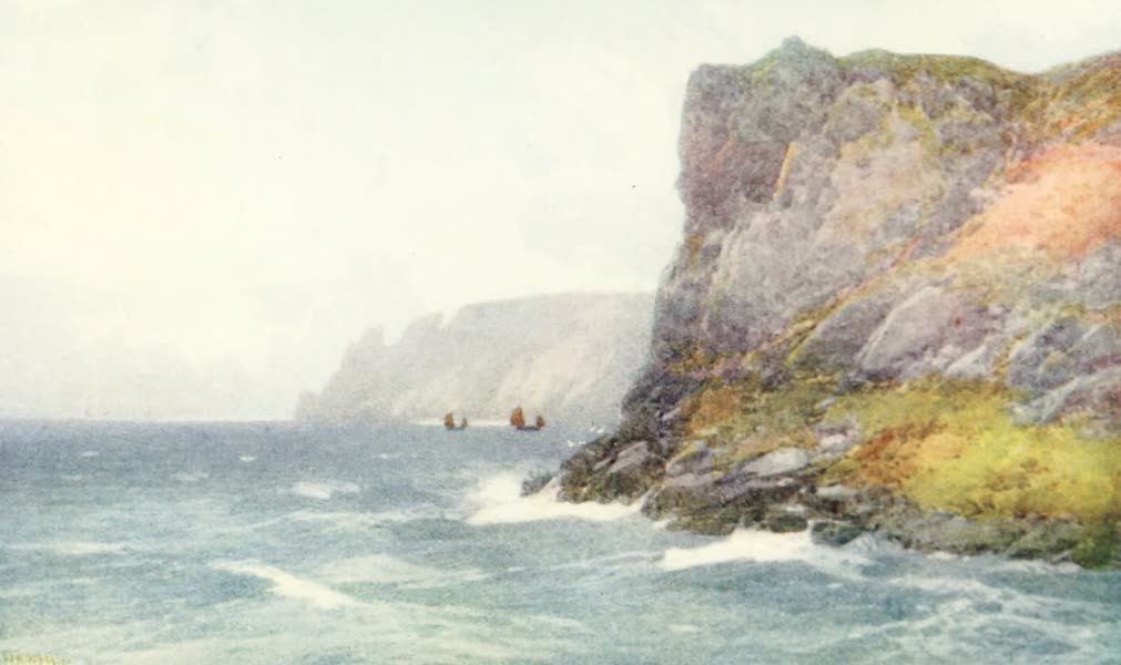 Devon : Its Moorlands, Streams, & Coasts - Seaton Headland (1913)
