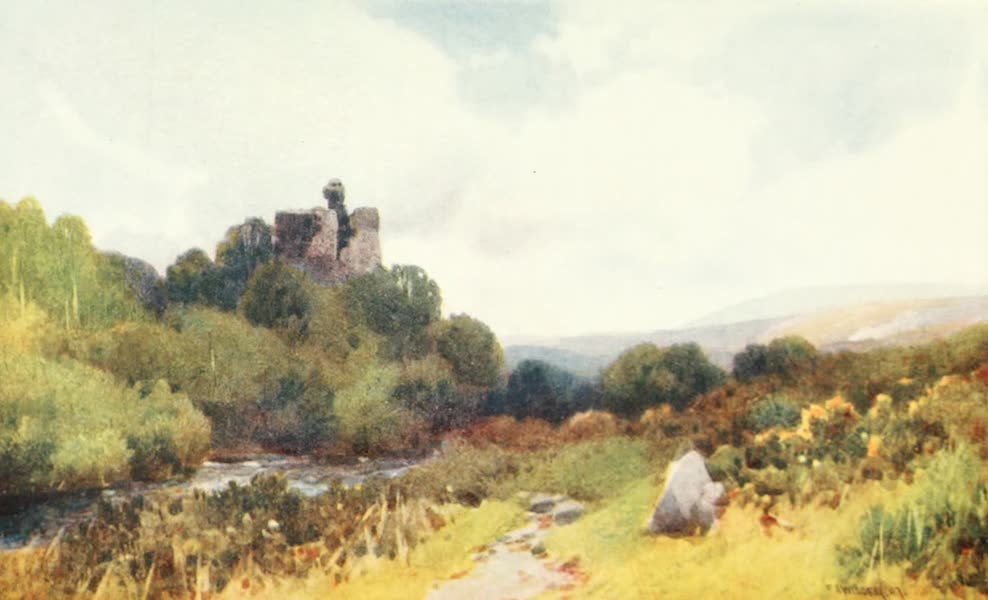 Devon : Its Moorlands, Streams, & Coasts - Okehampton Castle (1913)