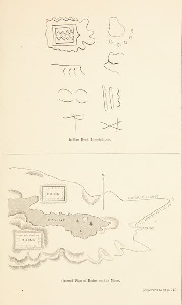 Journey from the Mississippi Vol. 1 - Indians Rock Inscriptions and Ground Plan of the Ruins on the Moro (1858)