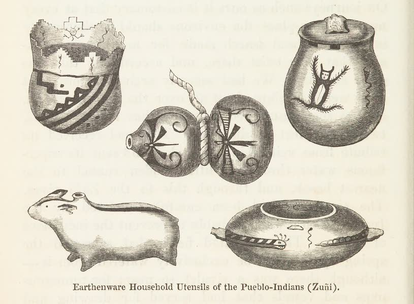 Journey from the Mississippi Vol. 1 - Earthern Household, Utensils of the Pueblo Indians (1858)