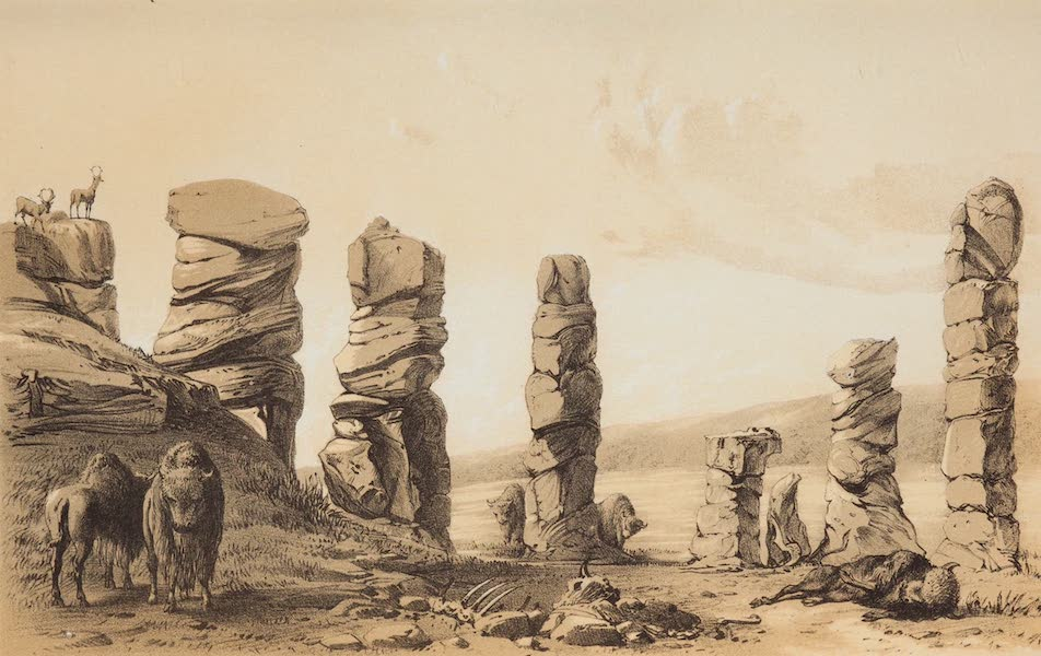 Journey from the Mississippi Vol. 2 - Sandstone Formation in the Prairie, Northwest of Texas (1858)